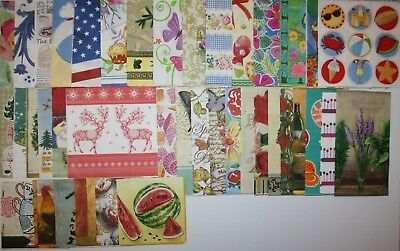 BIG LOT 55 paper napkins for decoupage & flowers animals christmas butterfly etc