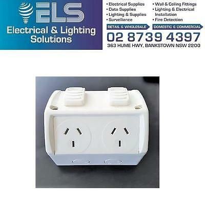 Weatherproof Double Power Point Outlet Socket GPO Water Proof External Outdoor