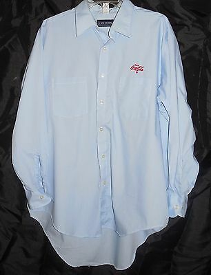 Coke Coca Cola Delivery Driver  Blue uniform shirt Long Sleeve Large 17 32/33