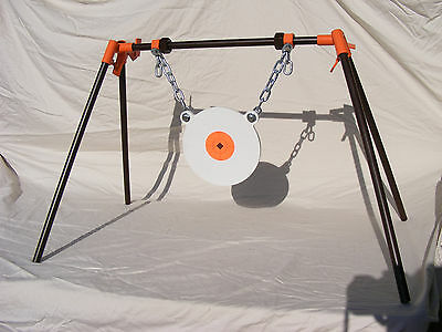 TommyGun Gong Target Stand AR500 3/8X8 Rifle Shooting Metal Steel Sight Your Gun