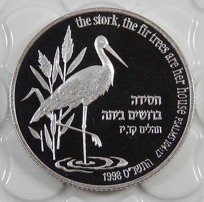 Israel 1998 Silver Proof 2 New Sheqalim Coin Stork C0321