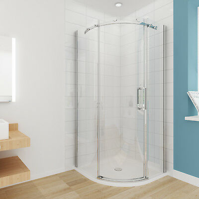 900x900x1950mm NEW Frameless Curved Sliding Shower Screen Enclosure