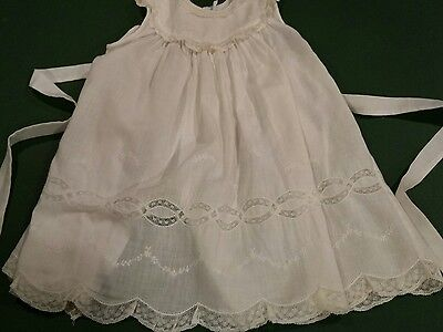Vintage Feltman Brothers Baby Girl Lace  2 Piece Dress / Christening Gown