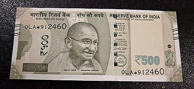 Latest - Replacement (Star) note From India of Rs 500 - GEM UNC