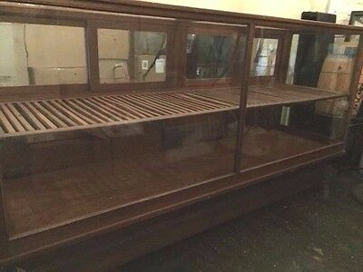 Antique Mercantile General Store Oak & Glass Jewelry Display Case by Wilmarth