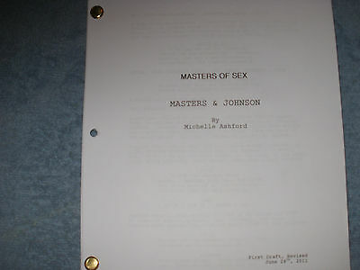 Masters Of Sex Script Michael Sheen Lizzy Caplan Teddy Sears Caitlin Fitzgerald