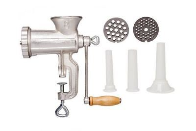 Kitchen No. 8 Cast Iron Manual Meat Grinder Mincer Sauce Maker Sausage Filler