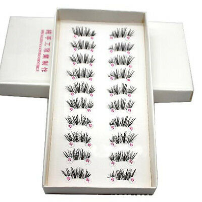 New 10 Pairs HALF/MINI/CONER WINGED False Eyelashes Natural Eye Lashes