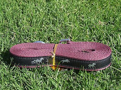 Burgandy Running horse lead with snap