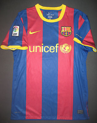 edcb57175 Authentic 2010 2011 Nike FC Barcelona FCB Home Jersey Shirt Kit Player  Issue M
