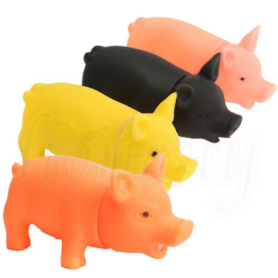 Rubber Pig Grunting Animal Squeaky Dog Pet Chew Fetch Play Kids Toy Squeak Gift