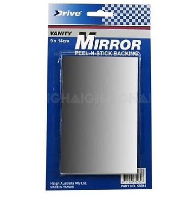 Universal Vanity Mirror with Peel & Stick Backing Size 90mm x 140mm Car or Home