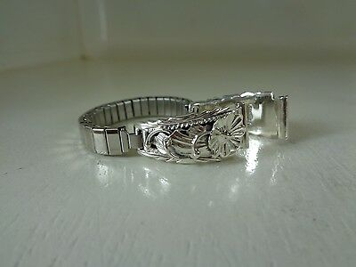 Watch Tips .925 Sterling Silver With Band H.B. Yazzie - Navajo No Stone