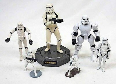 Hasbro Star Wars Lot of 6 Different Stormtrooper Figure & Collectible Items