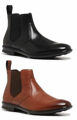 Mens HUSH PUPPIES CARTER FORMAL/DRESS/WORK/CASUAL/LEATHER SHOES BOOTS Tan Black