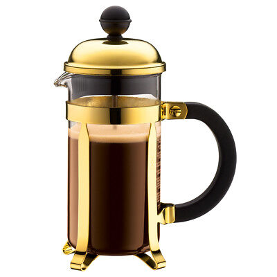 NEW Bodum Chambord Gold French Press Coffee Maker 3 Cup