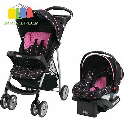 Graco Stroller Car Seat Click Base Travel Lightweight Girl Infant Baby Child NEW