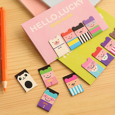4x Bear Korean Magnetic Metal Lucky Cute Book Mark Clip School Office Supplies