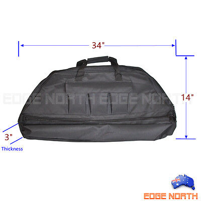 New COMPOUND BOW BAG 2 LAYER ARCHERY Carry BAG with ARROW HOLDER  Black
