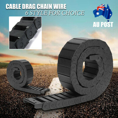 100CM Nylon Towline Cable Drag Chain Wire Protect Carrier CNC R18/R28/R38 AU