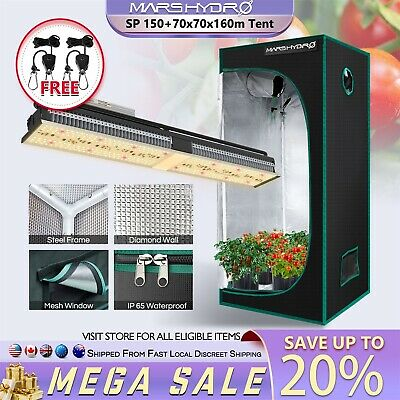 Mars Hydro Pro II 400W LED Grow Light Full Spectrum Veg Bloom for Indoor Plants