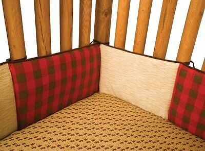 TRLB-110241-Trend Lab Northwoods Crib Bumpers, Red/Tan