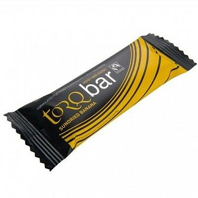 Torq ENERGY BAR 45g, Box Of 15, High Carbohydrates SUNDRIED BANANA *UK Brand