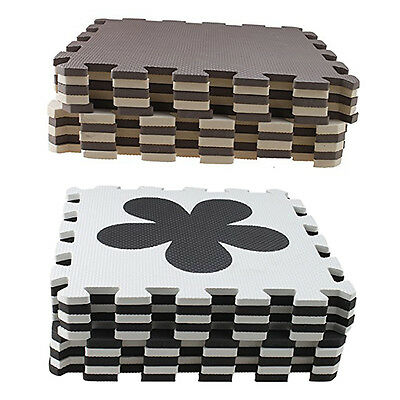 10 Piece Eva Foam Puzzle Exercise Mat Interlocking Floor Tiles N1V6