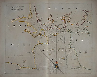 A  Large Draught Of Plymouth Sound By Captain Grenville Collins, Circa 1750.