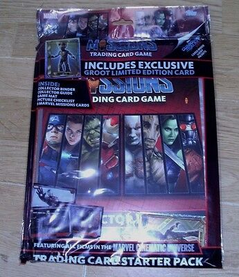 Topps Marvel Missions Trading Cards Game Starter Pack + limited Edition Groot