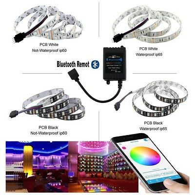 1-10M 5050 RGB 60SMD/M LED Strip Light Lamp DIY+Bluetooth Remote/12V Power
