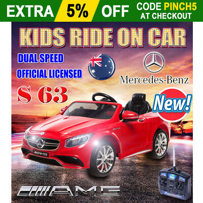 Licensed Mercedes-Benz S63 AMG Kids Electric Ride On Car Children Present Gift