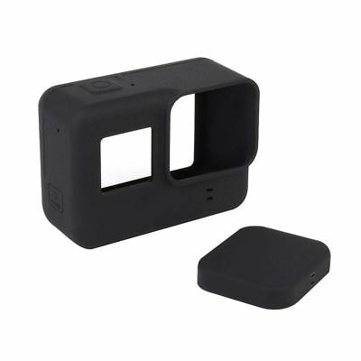 Black Silicone Housing Case Lens Cap Cover For GoPro HERO 5 Camera Protective