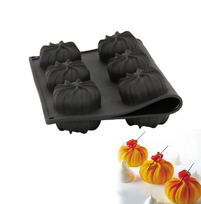 Silicone 3D Twister Monoportion Entremet Mould Cake Pan For Puff Dessert USA UK