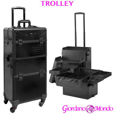 Trolley Estetista For All Parrucchieri Beauty Case Rigido Make Up Nail Art