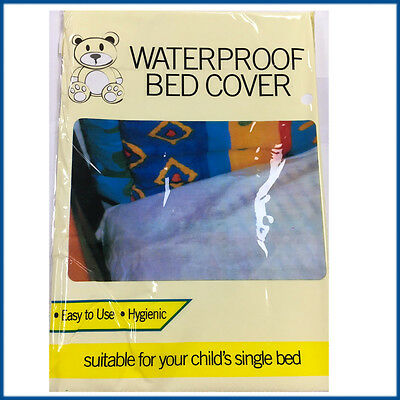 Kids Waterproof Bed Mattress Cover Protector 200x100cm Child's Single Mat White