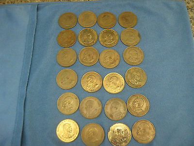 24 Large Ten Cent Coins from Kenya
