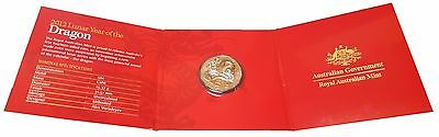 2012 Lunar Year of the Dragon 50c Uncirculated Coin