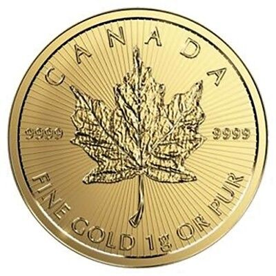 Kanada 0,50 Dollar Maple Leaf 1 Gramm 999,9er Gold