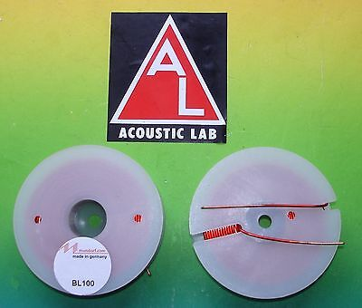 2xMUNDORF BL100 1,5mh Backlack Luftspule Frequenzweiche air coil audio crossover