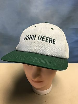 Vintage Denim and Green John Deere Tractor Men's Trucker's Base Ball Cap Hat USA