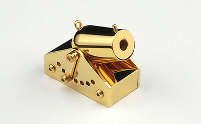 Gold Plated Gift Gadgeteer Mini Black Powder Signal Cannon +Free Balls
