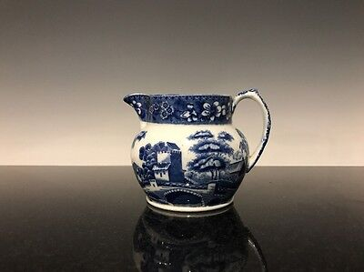 Copeland Spode Italian Blue And White England Pitcher Cream Jug