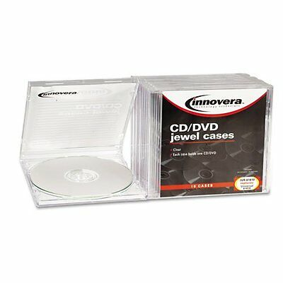 Innovera CD/DVD Standard Jewel Cases 10 per Pack Clear Storage Transparent Set