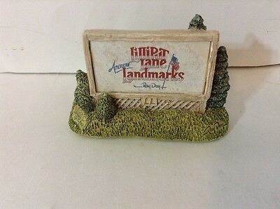 Lilliput Lane American Landmarks Sign Of The Times Hand Made Display