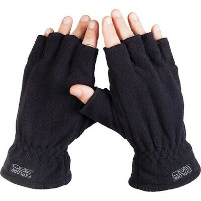 EX 360 Fingerless Glove - Unisex, Black, 9.5