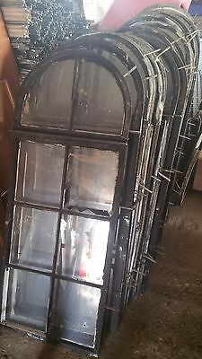 Vintage/Antique Cast Iron Gothic Arched/Church Type Metal Window Frame-