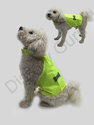 Pet Dog High Visibility Hi Viz Florescent Reflective Saftey Vest Coat Jacket