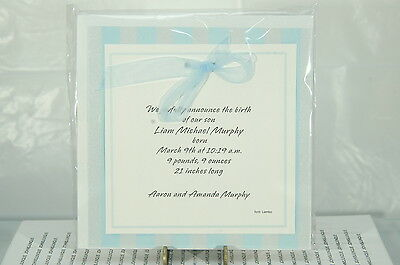 New Baby Boy Announcements Hallmark~10 In Pack~Printer Or Pen~Free Ship Us