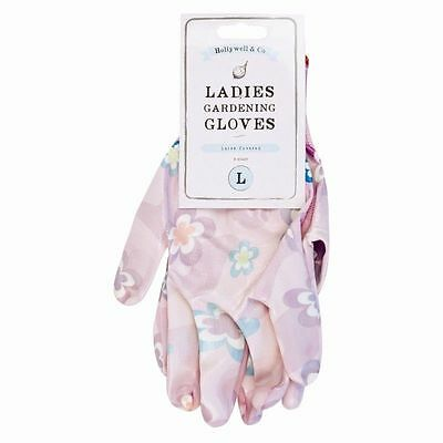 Size M  - Ladies Gloves Garden Pink New Gardening Goatskin Trends House Pink